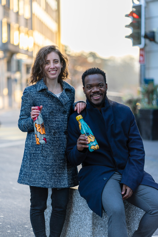 The creators of the SIDER Bottle brand: Magali and Forester